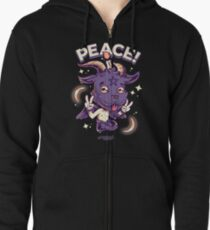 Peaceful Goat Zipped Hoodie