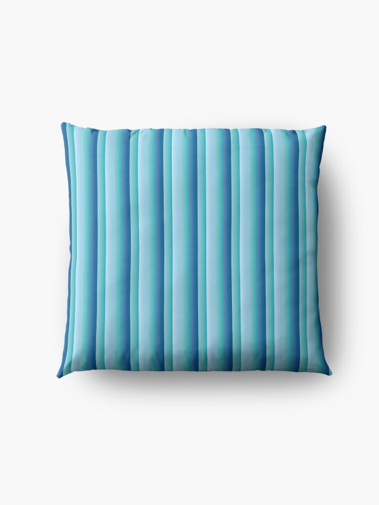 Alternate view of stripes pattern Floor Pillow