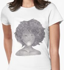Girl with Gum Women's Fitted T-Shirt