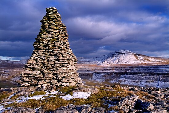 Ingleborough from Twisleton Scars - The Yorkshire Dales by Dave Lawrance
