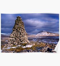 Ingleborough from Twisleton Scars - The Yorkshire Dales Poster