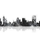 Memphis, Tennessee Skyline - schwarz und weiß von Marlene Watson