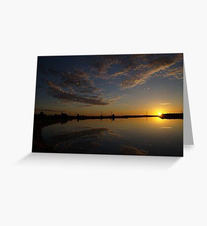 Saltpan Sunset Greeting Card
