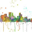Minneapolis, Minnesota Skyline von Marlene Watson