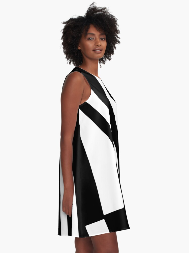 Alternate view of BLACK and WHITE DAZZLE A-Line Dress