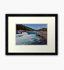 Wonderful Norway . Otta River . Oppland . Brown Sugar Story. Framed Print