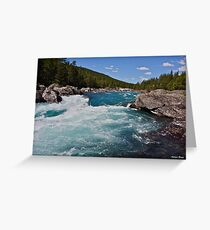 Wonderful Norway . Otta River . Oppland . Brown Sugar Story. Greeting Card