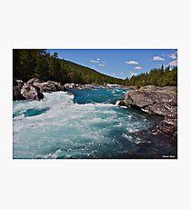 Wonderful Norway . Otta River . Oppland . Brown Sugar Story. Photographic Print