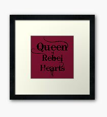 Queen of Rebel Hearts Framed Print