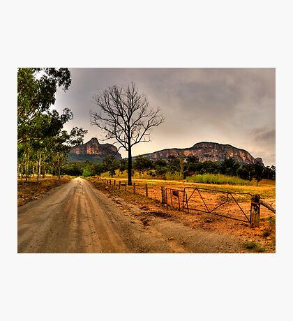 Road to Somewhere - Capertee Valley, NSW Australia - The HDR Experience Photographic Print