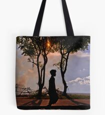 Youg balinese boy after the cremation Tote Bag