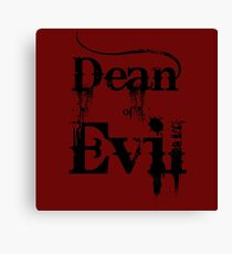 Dean of Evil Canvas Print
