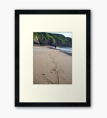 Marks in the sand Framed Print