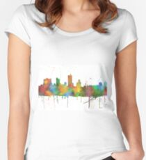 Fort Worth, Texas Skyline Women's Fitted Scoop T-Shirt