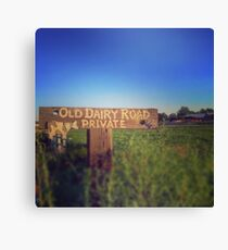 Old Dairy Road Private Canvas Print