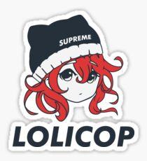 Supreme Lolicop (Cinnabar / Red) Glossy Sticker