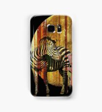 Zebras Lilies and a Harvest Moon Samsung Galaxy Case/Skin