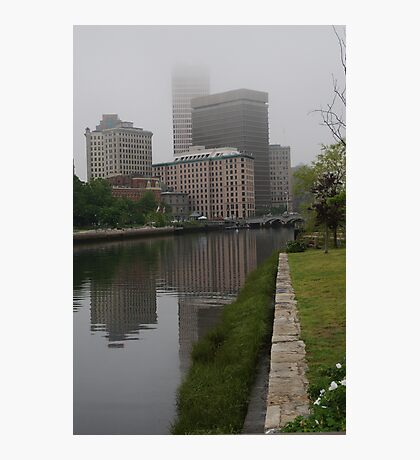 Foggy morning in Providence Photographic Print