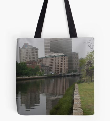 Foggy morning in Providence Tote Bag
