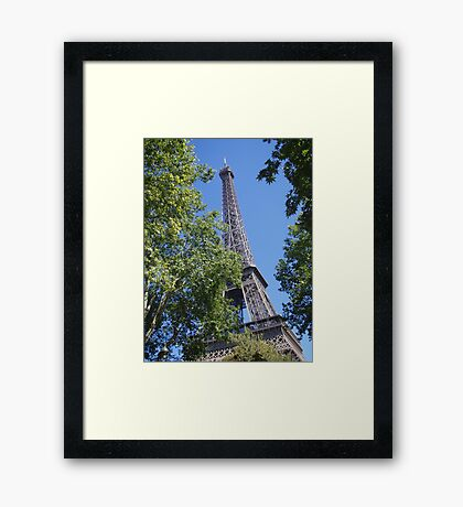 The Eiffel Tower sky view Framed Print