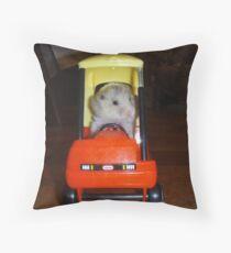 Hamster trip Throw Pillow