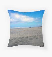 90 Miles Beach Throw Pillow
