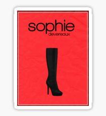 Sophie Devereaux (Leverage) minimalist poster Sticker
