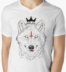 The Wolf King Mens V-Neck T-Shirt