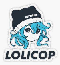 Supreme Lolicop (Aqua / Blue) Transparent Sticker