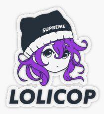 Supreme Lolicop (Dark Orchid / Purple) Transparent Sticker