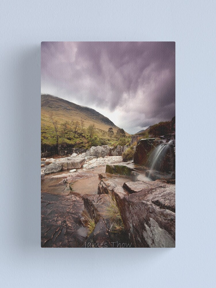 Alternate view of Glen Etive waterfall Canvas Print
