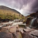 Glen Etive waterfall by james  thow
