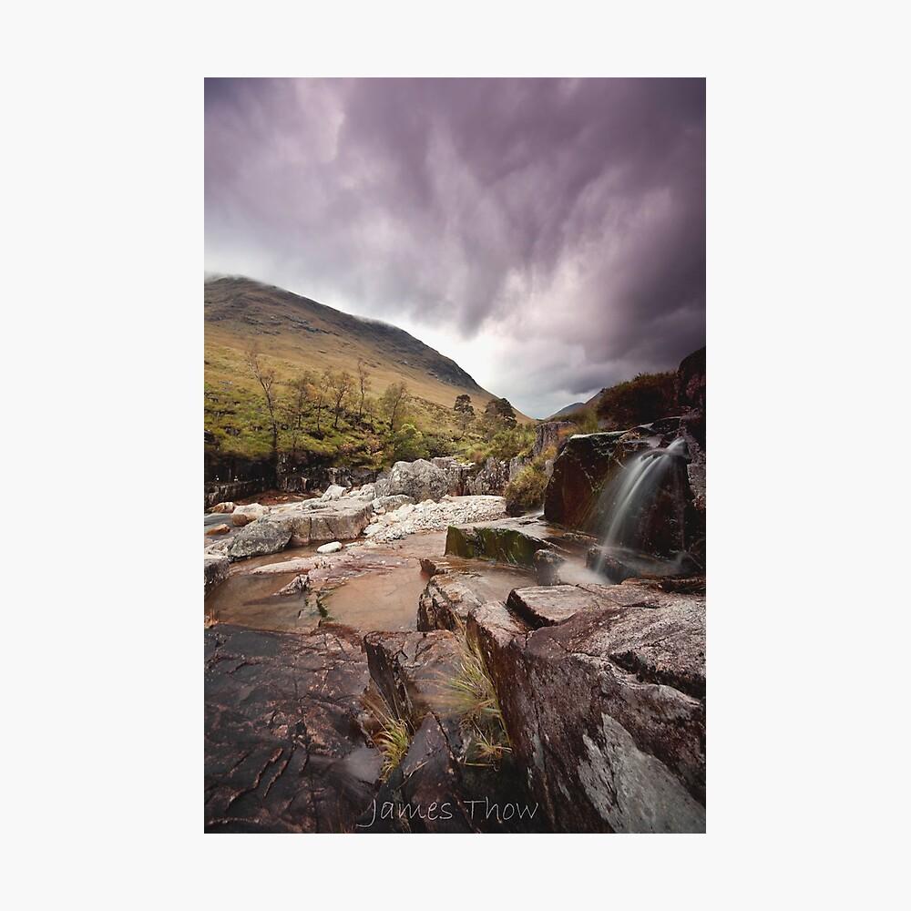 Glen Etive waterfall Photographic Print
