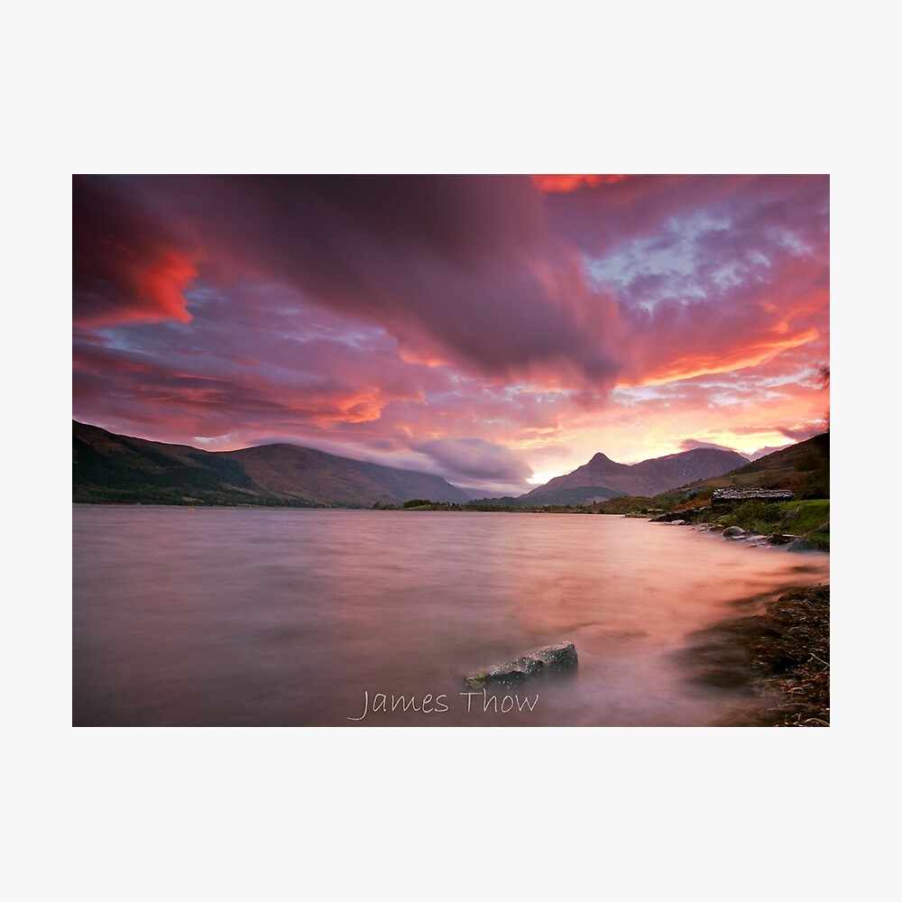 Glencoe sunrise Photographic Print