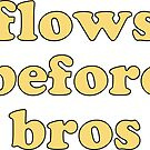 flows before bros (yellow) by Zara Chapple