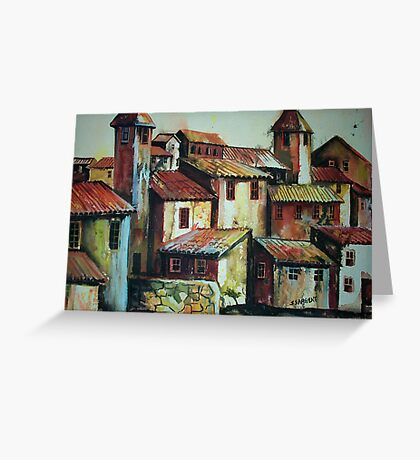 Spanish Village Greeting Card
