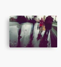 They stepped in a puddle right up to their middles... Canvas Print