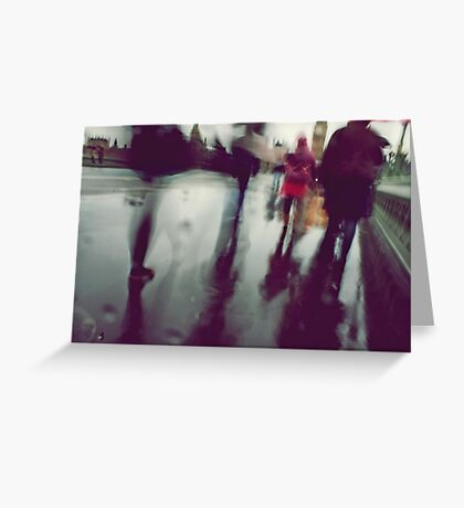 They stepped in a puddle right up to their middles... Greeting Card