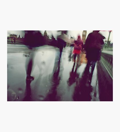 They stepped in a puddle right up to their middles... Photographic Print