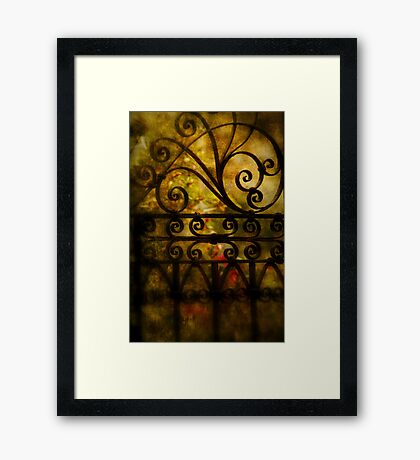 Open that door Framed Print