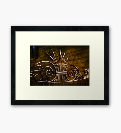 Iron Work Framed Print