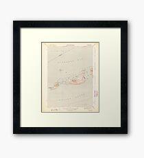 Massachusetts  USGS Historical Topo Map MA Cuttyhunk 351604 1944 31680 Framed Print