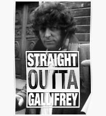 Straight Outta Gallifrey- BAKER Poster