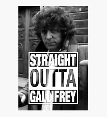 Straight Outta Gallifrey- BAKER Photographic Print