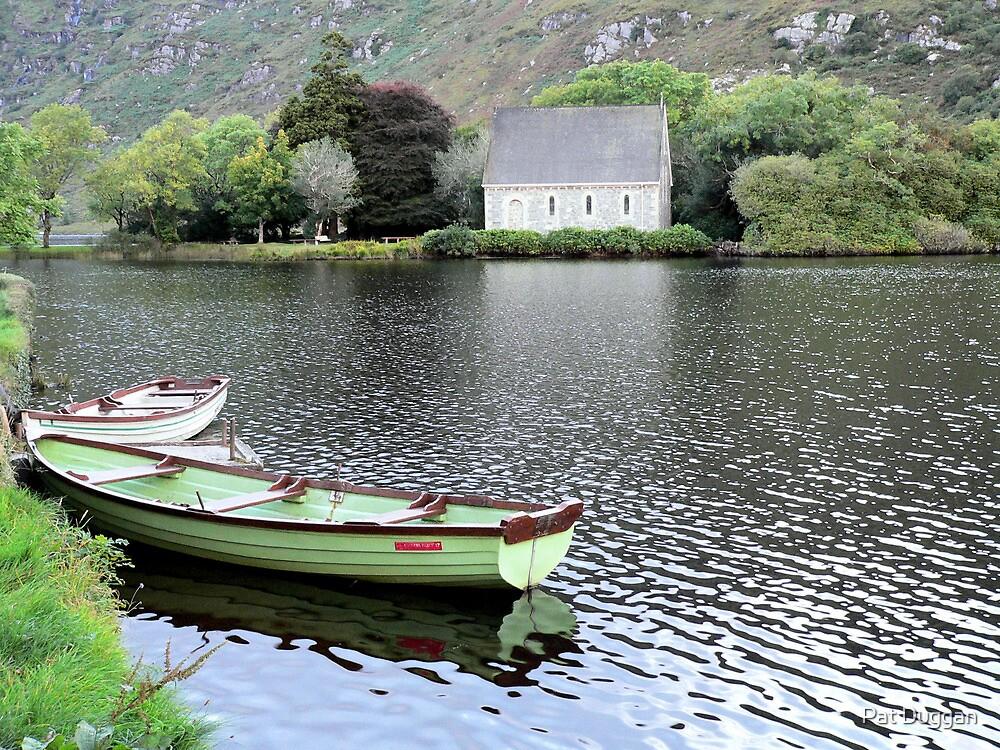 Boats on Gougane Barra Lake/Forest Park,Co.Cork,Ireland. by Pat Duggan