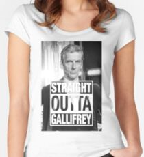 Straight Outta Gallifrey- CAPALDI Women's Fitted Scoop T-Shirt
