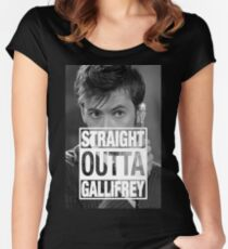 Straight Outta Gallifrey- TENNANT Women's Fitted Scoop T-Shirt