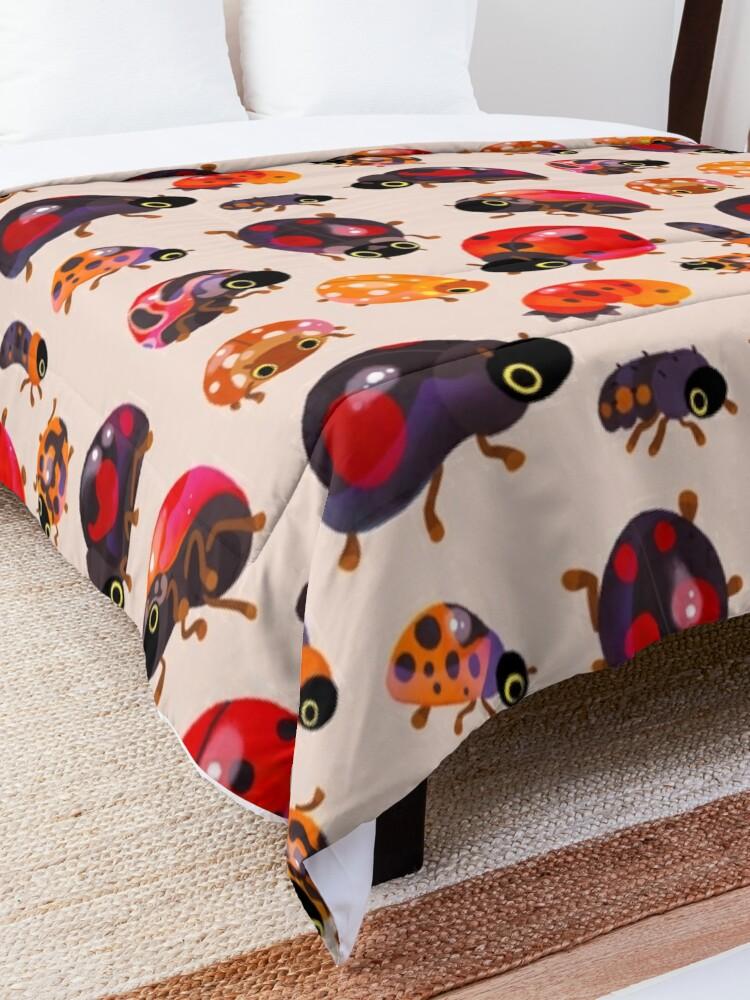 Alternate view of Lady beetles Comforter