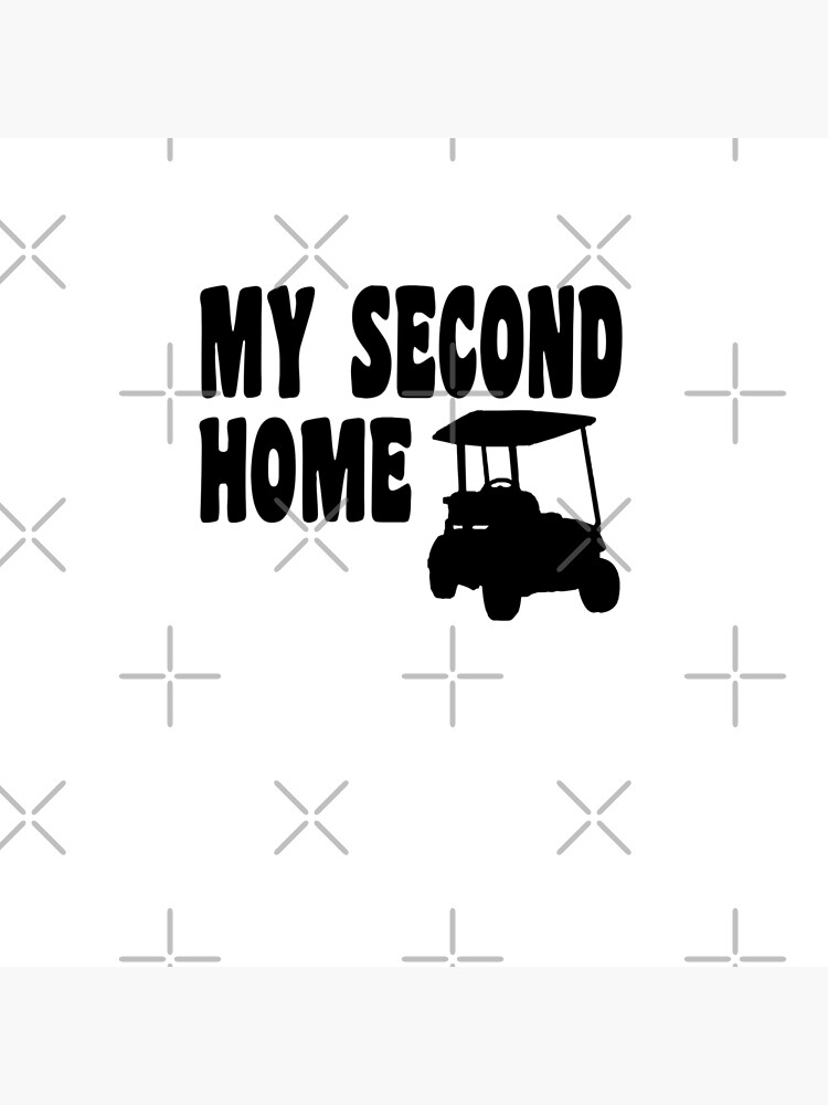 My Second Home - Funny Golf T Shirt and Gifts for Golfers Golfing Men Women von greatshirts