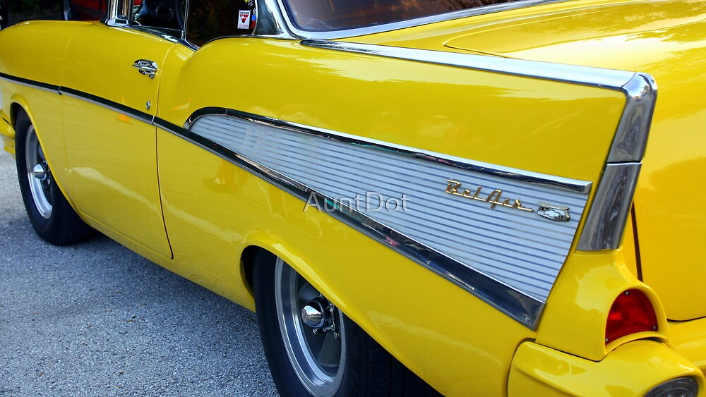 Yellow '57 Chevy  by AuntDot